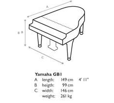 Yamaha baby grand piano dimensions google search for Baby grand piano height