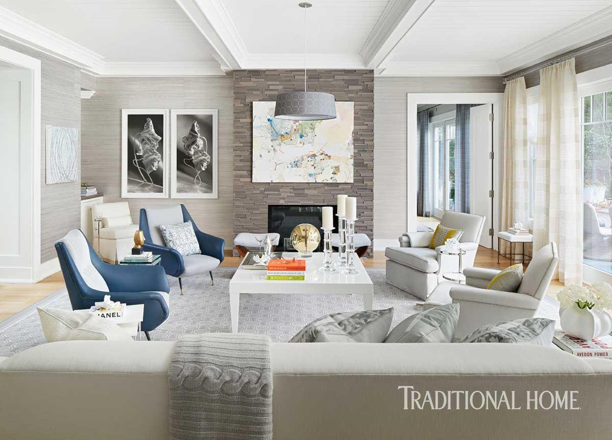 Patricia Fisher designed this great room last