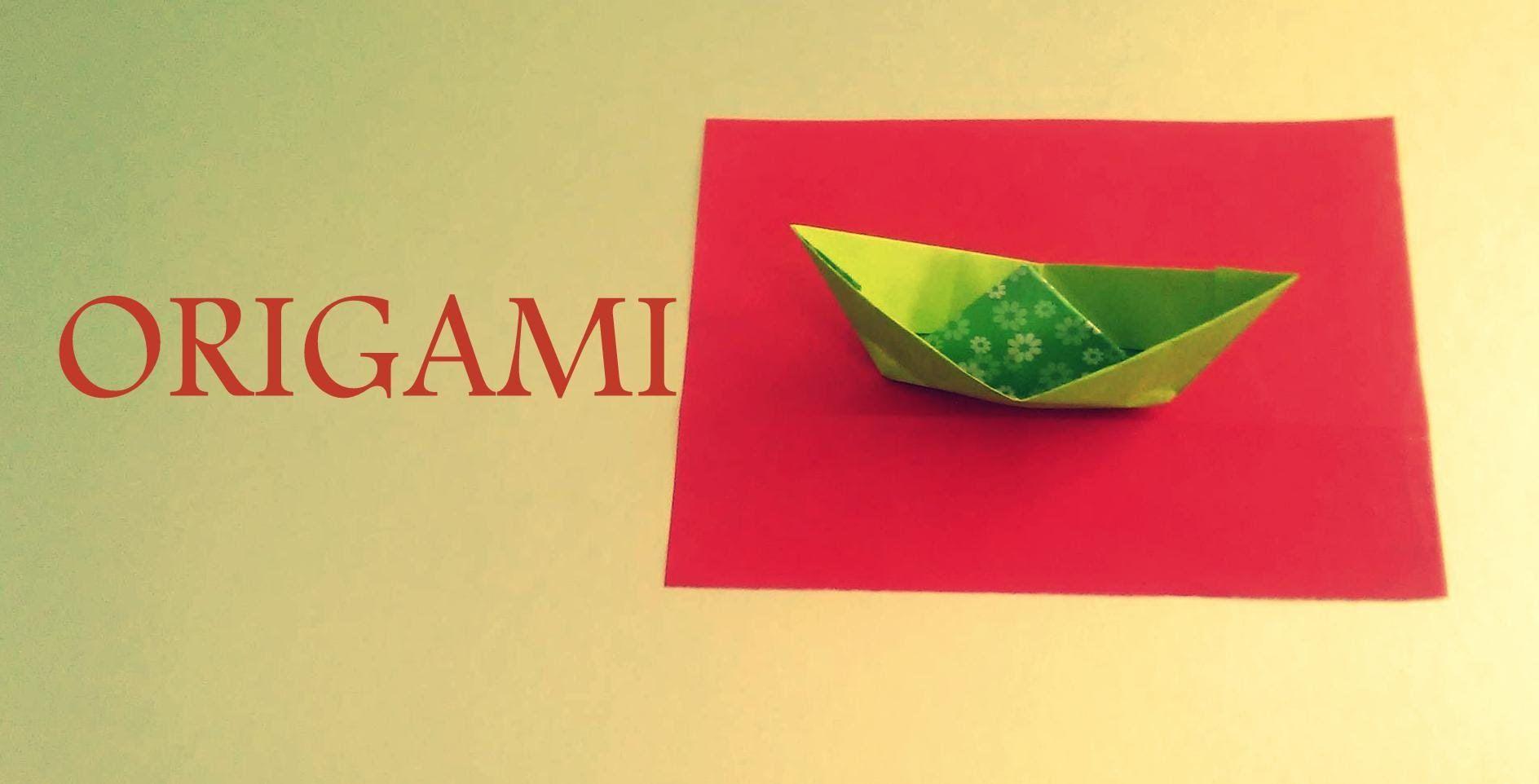 Origami BARCO de PAEL - PAPER BOAT