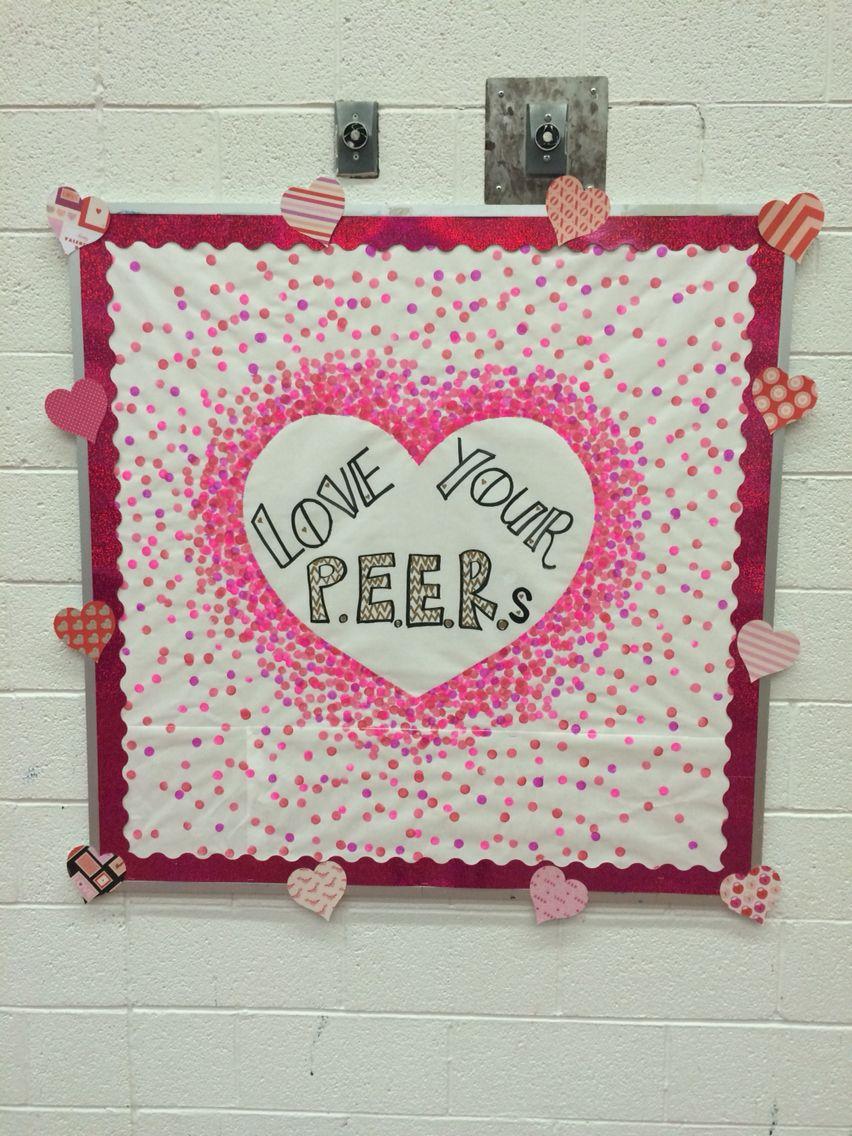Valentine S Day Bulletin Board Bulletin Board Ideas Pinterest