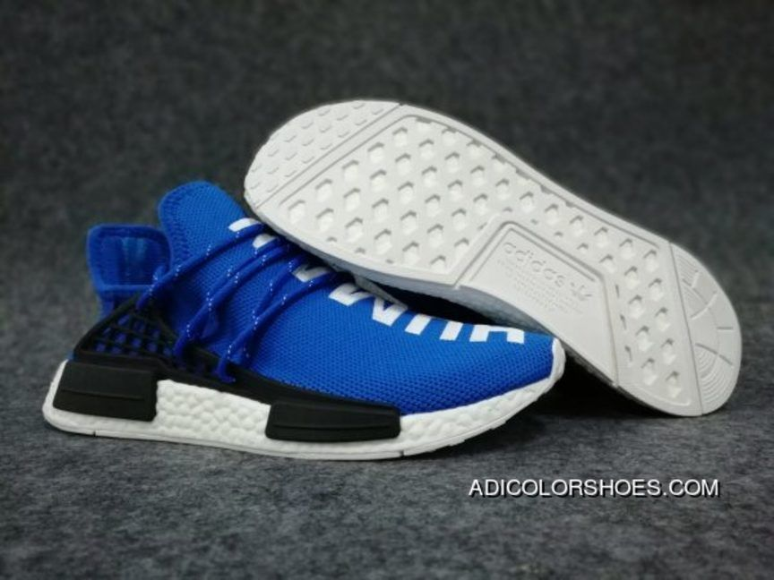 reputable site 8c83e 2de7e Pharrell X Adidas Boost Nmd Human Race Blue White Copuon