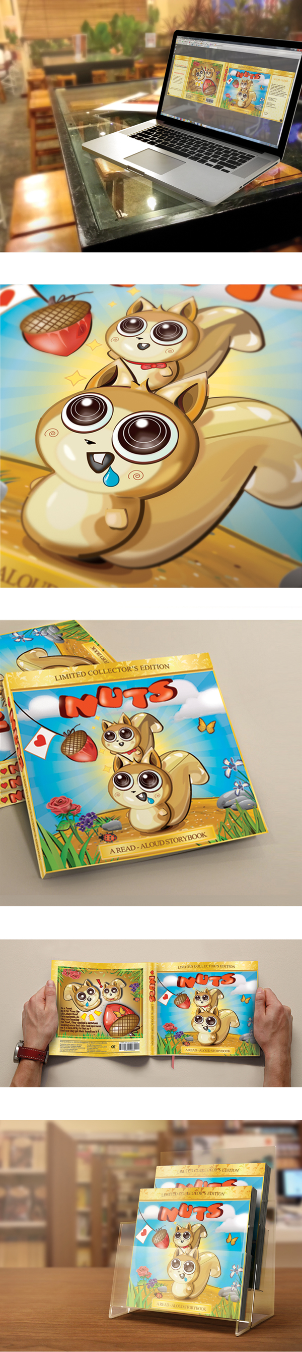 Nuts Storybook by Eloys Leong, via Behance