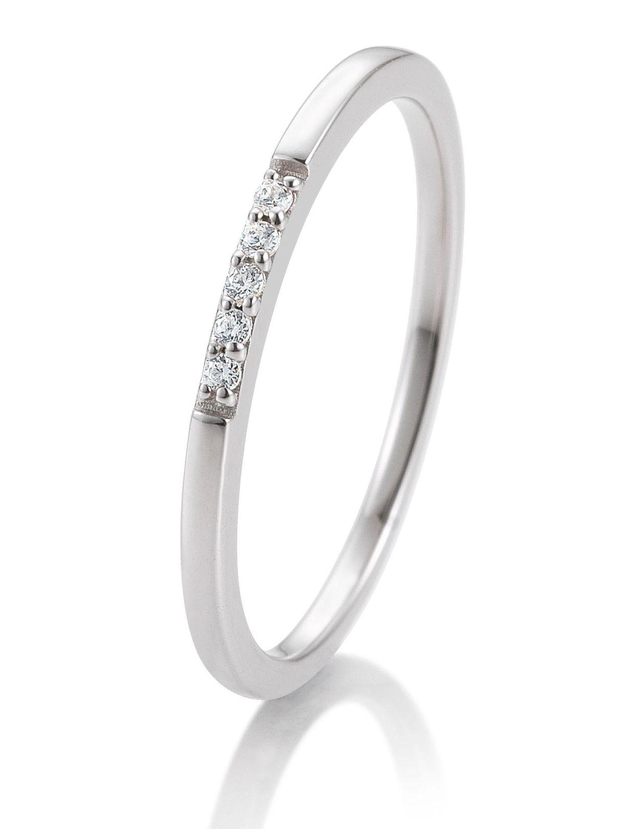 Verlobungsring Weissgold 0 038 Ct Memoire Ring Gem Gem Engagement