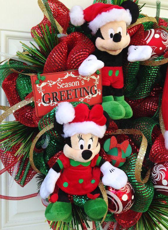 Navidad guirnalda mickey y minnie mouse por for Disney weihnachtskugeln