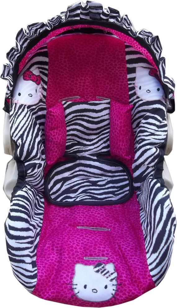 Hello Kitty infant car seat cover custom by