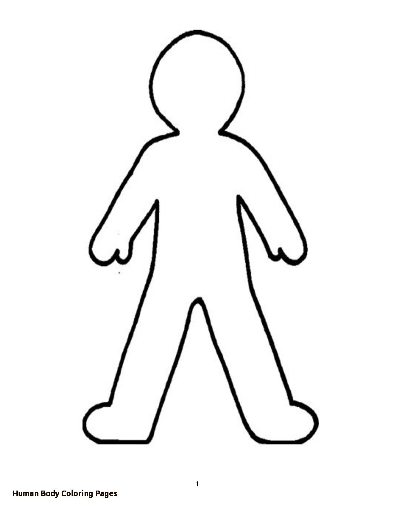 Parts Of The Body For Kids Colouring Page Google Search Person Outline Body Outline Human Body Drawing