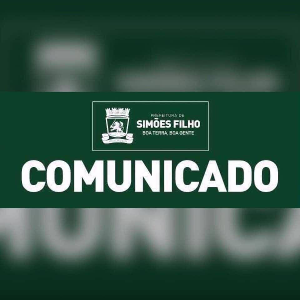 Comunicado sobre o trânsito de Simões Filho | Prefeitura ...