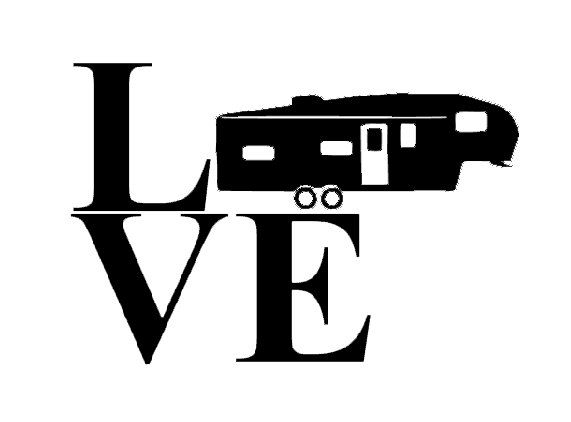Vinyl Decal Rv Class C Camper Silhouette LOVE Vinyl Decal Can - Custom vinyl decals for caravans