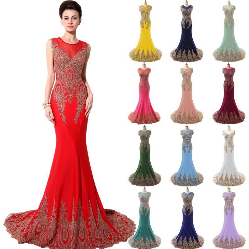Real Image Mermaid Long Evening Dresses 2015 New Arrival Chiffon ...