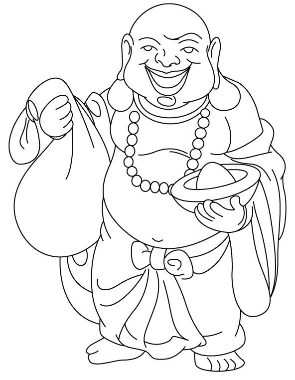 fat buddah coloring pages - photo#4