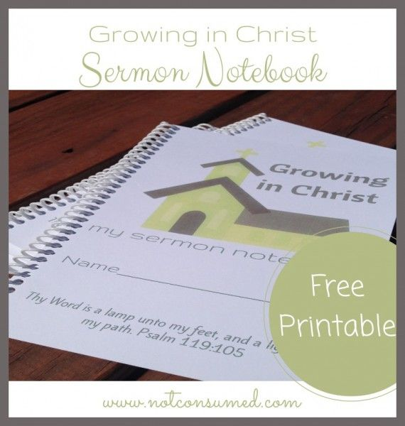 Free Printable Sermon Notebook for Kids | DIY - Crafts and