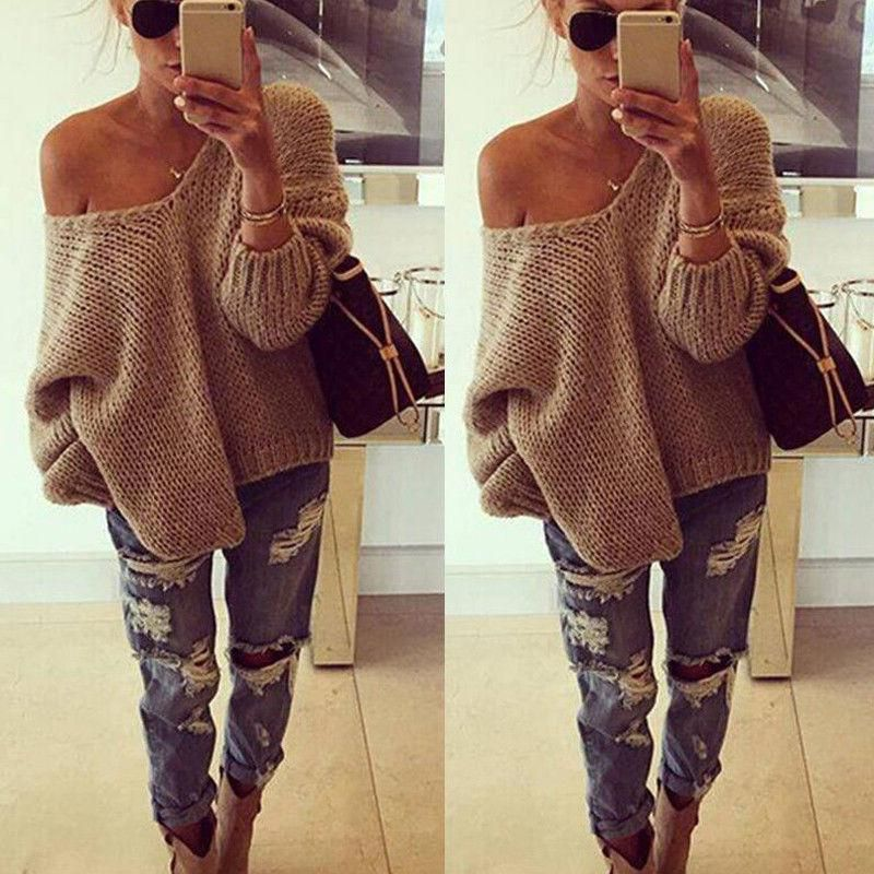 bf6eb73d2 Morgana Knit Sweater - Women Long Sleeve Knitted Sweater Tops Loose Cardigan  Outwear Coat Oversized