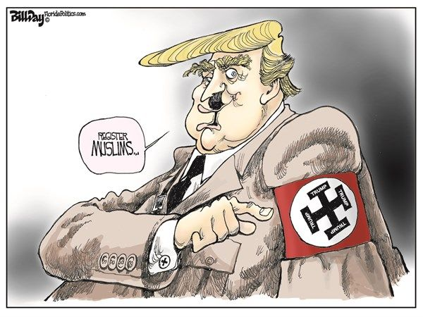 Image result for TRUMP NAZI CARTOONS