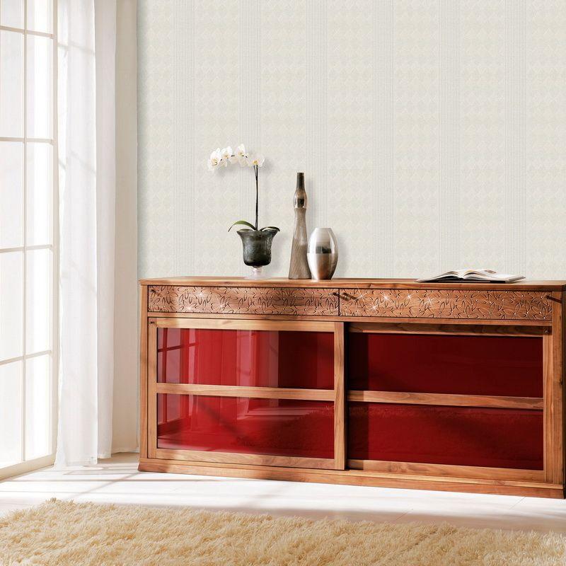 Modern White Striped Wallpaper Living Room Plain White ...