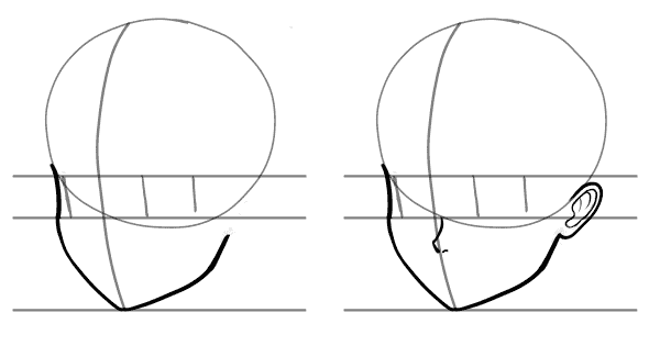 Anime Head Tutorial Drawing Heads At Three Quarter Angles Manga Tuts Anime Head Anime Head Shapes Anime Drawings Tutorials