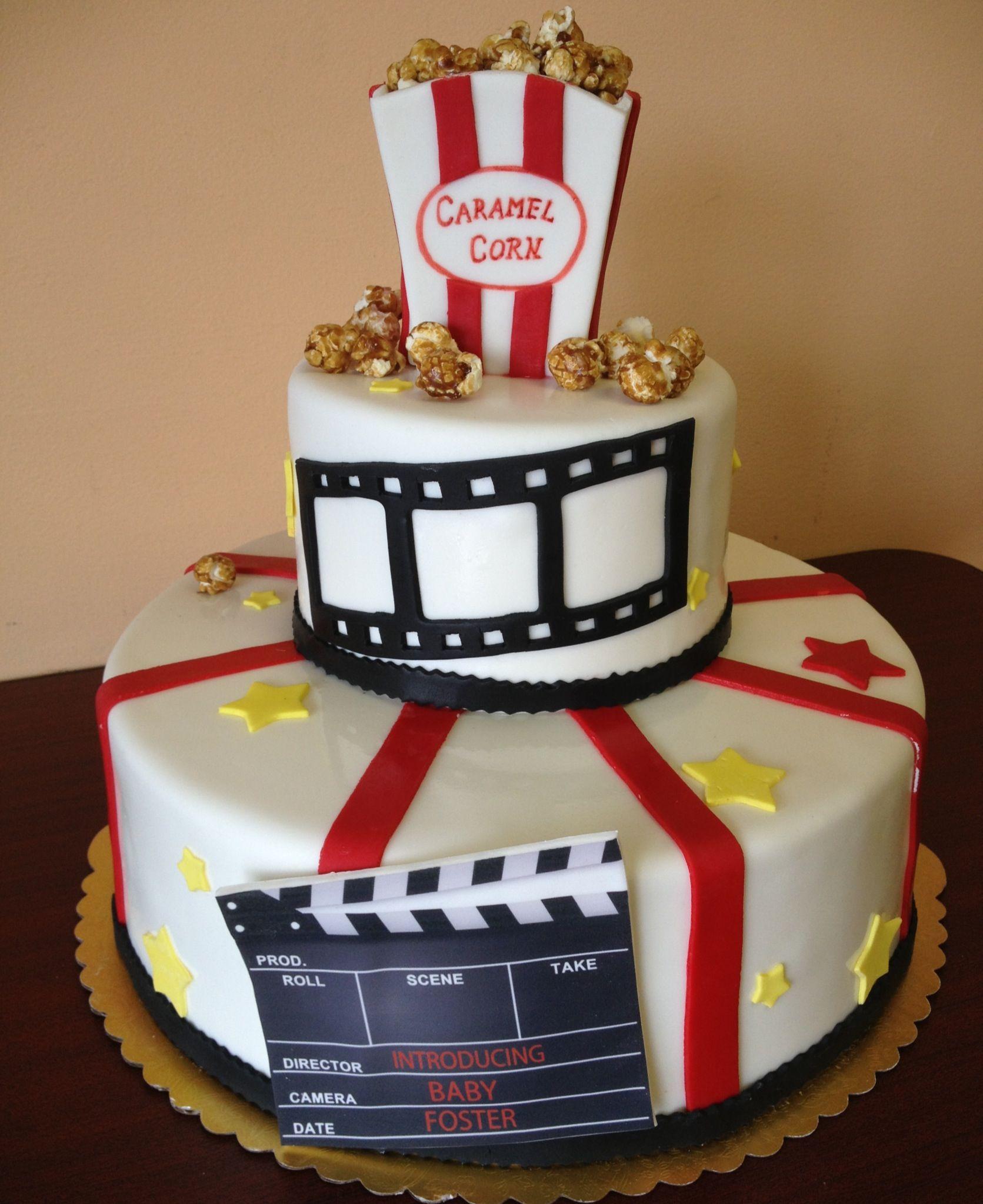 Pleasant Movie Theme Baby Shower Cake By Melinda Schaefer Bakery Movie Funny Birthday Cards Online Eattedamsfinfo