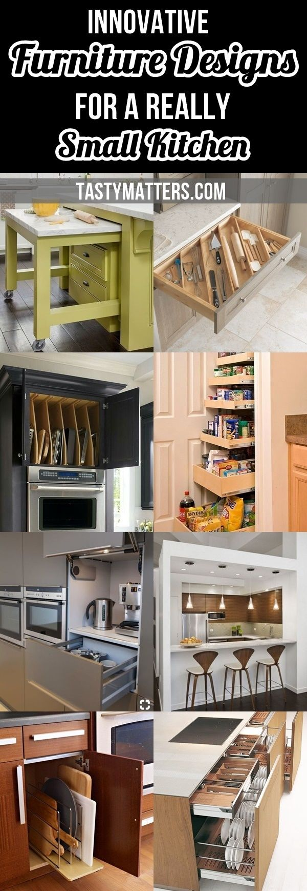 35 Innovative Furniture Designs For A Really Small Kitchen Tastymatters In 2020 Kitchen Design Small Small Kitchen Innovative Furniture
