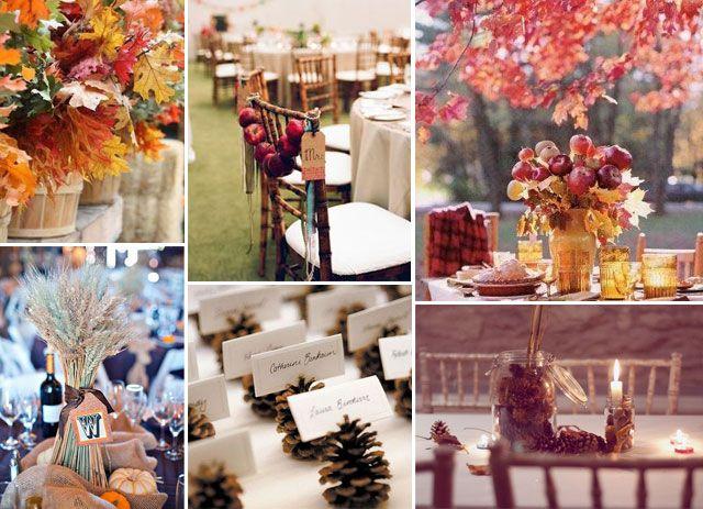 ideas de decoracin para una boda en otoo del blog