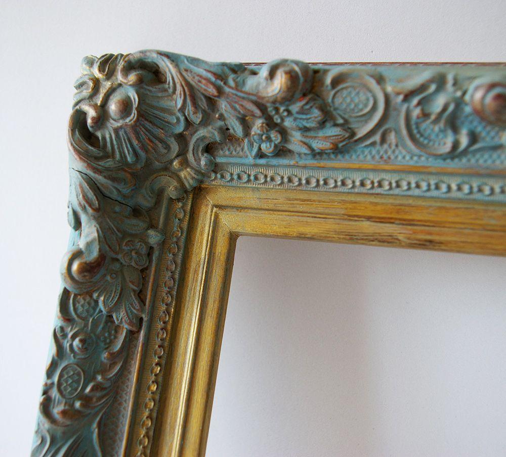 Marco de madera con moldura marcos y espejos pinterest for Disenos de marcos de madera para espejos