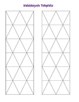 Free Kaleidocycle Template Paper Toys Template Origami