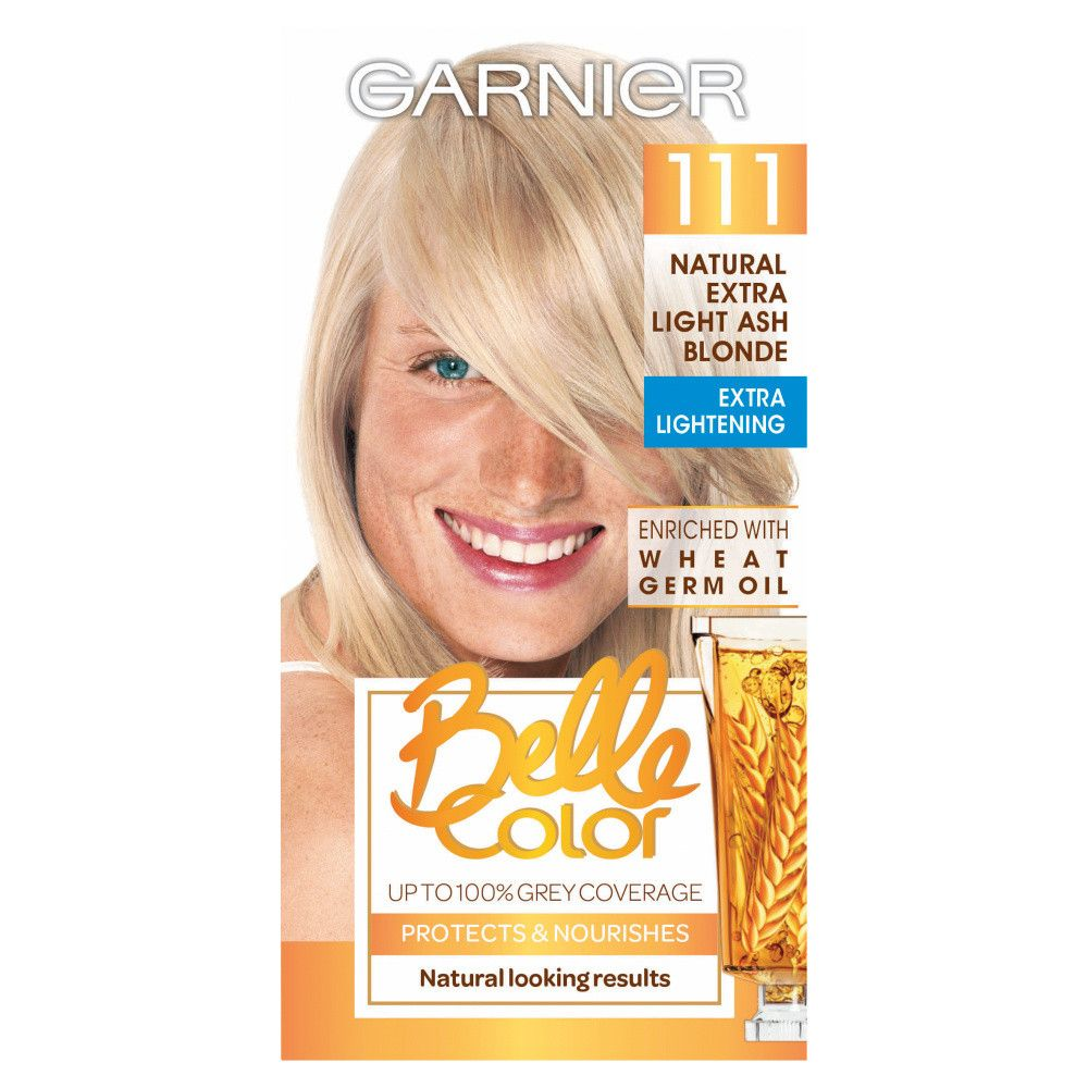 Garnier Belle Colour 111 Natural Extra Light Ash Blonde Hair Dye #lightashblonde