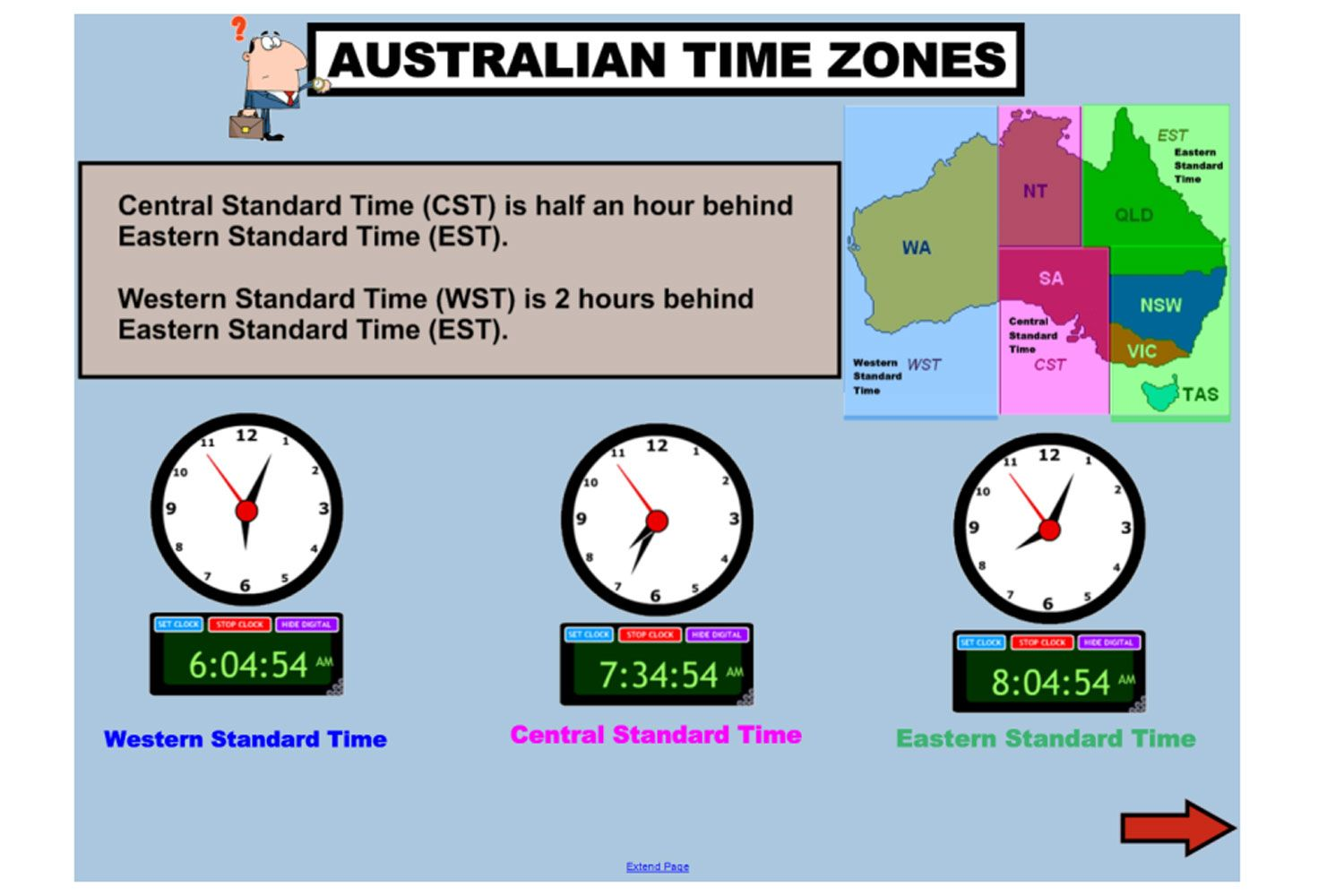Learn all about Australian Time Zones and Daylight Saving Time with this  terrific IWB lesson. http://interactivelesso…   Year 6 maths [ 1000 x 1500 Pixel ]