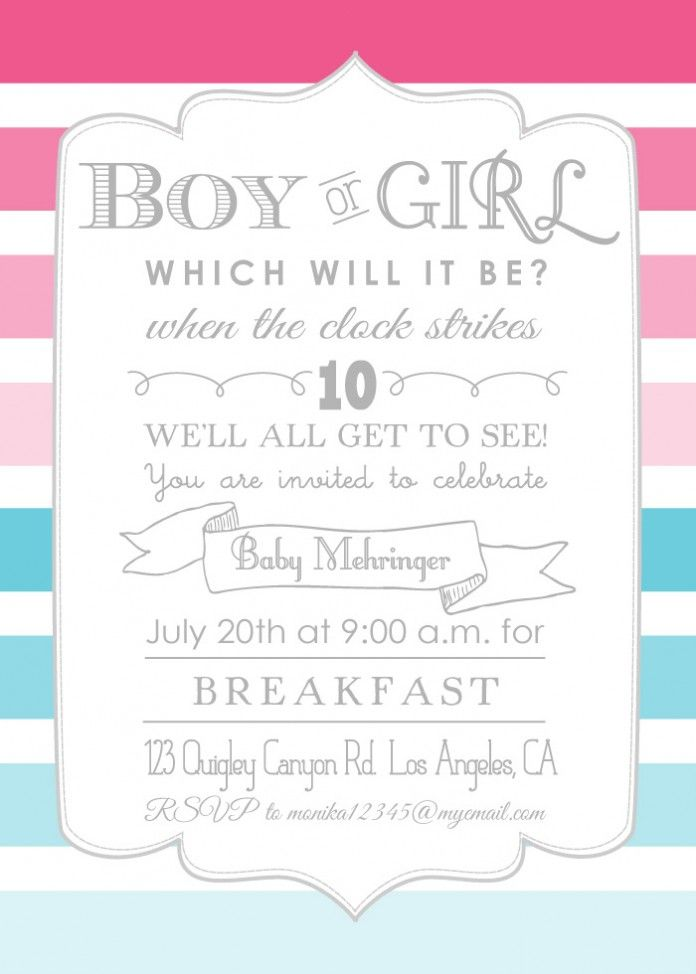 photo about Free Printable Gender Reveal Invitations called cost-free printable gender explain invites - Google Glance