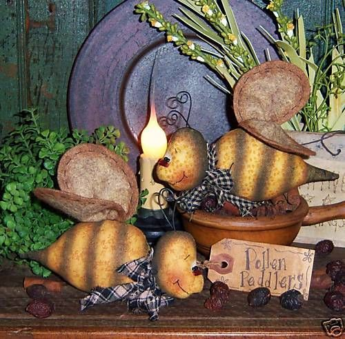 Primitive Bumble Bee Garden Bug Ornie Doll Pattern 483 | eBay
