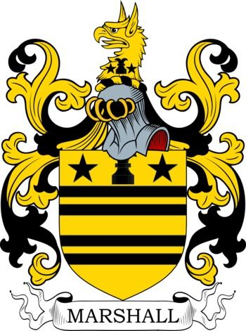Marshall Coat of Arms Meanings and Family Crest Artwork ...