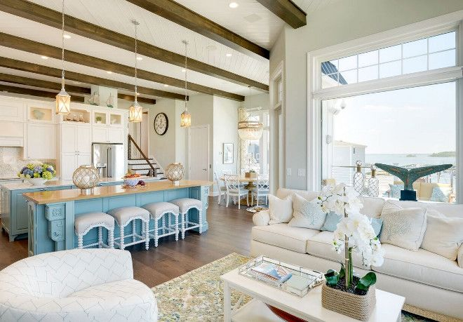 Beach House Interiors Beach House Interiors Located Just Off The Kitchen There Is A Cozy Yet Formal Lounge A Beach House Interior Home Beach House Vacation