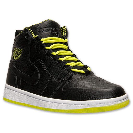 Men's Air Jordan Retro 1 94 Basketball Shoes | Finish Line | Black/Venom Green/White