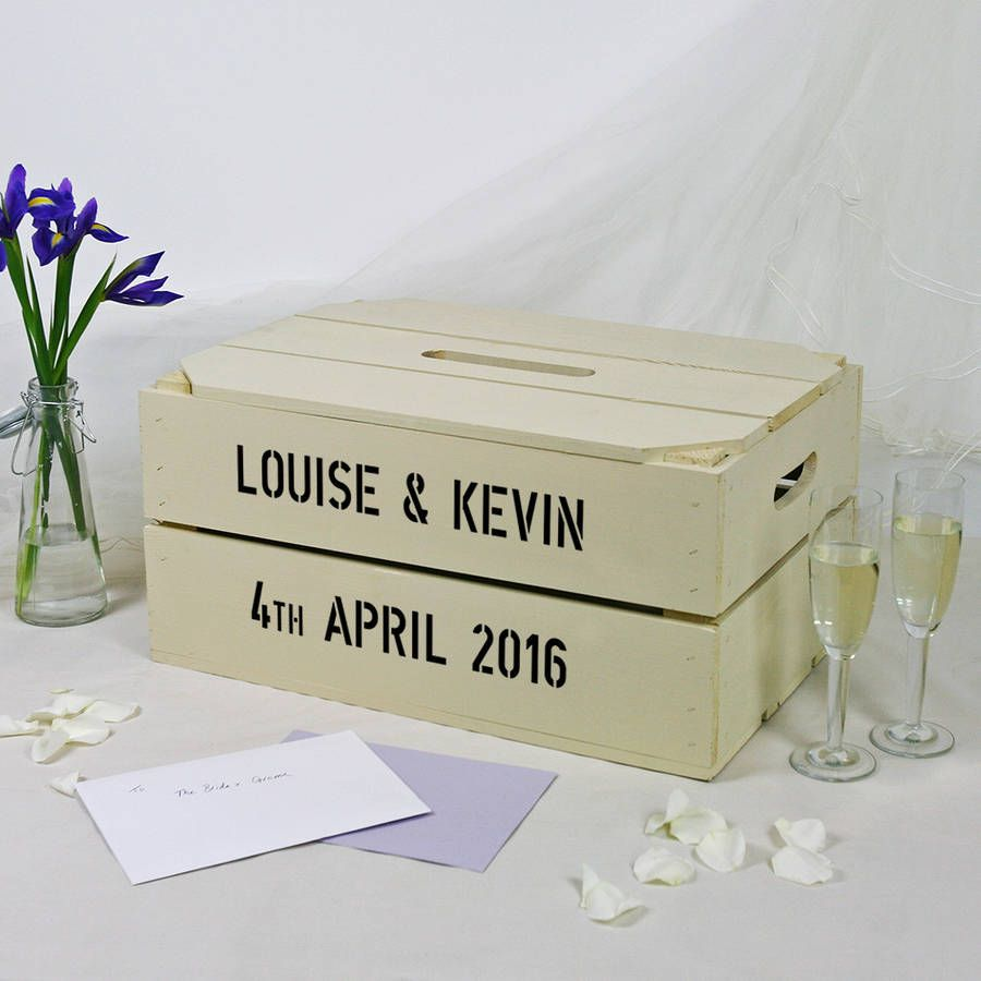 This Lovely Wooden Personalised Apple Crate Makes A Brilliant Postbox For Wedding Cards And Messages