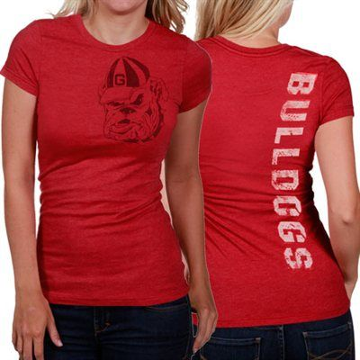 My U Georgia Bulldogs Ladies Afterthought Slim Fit T-Shirt - Red