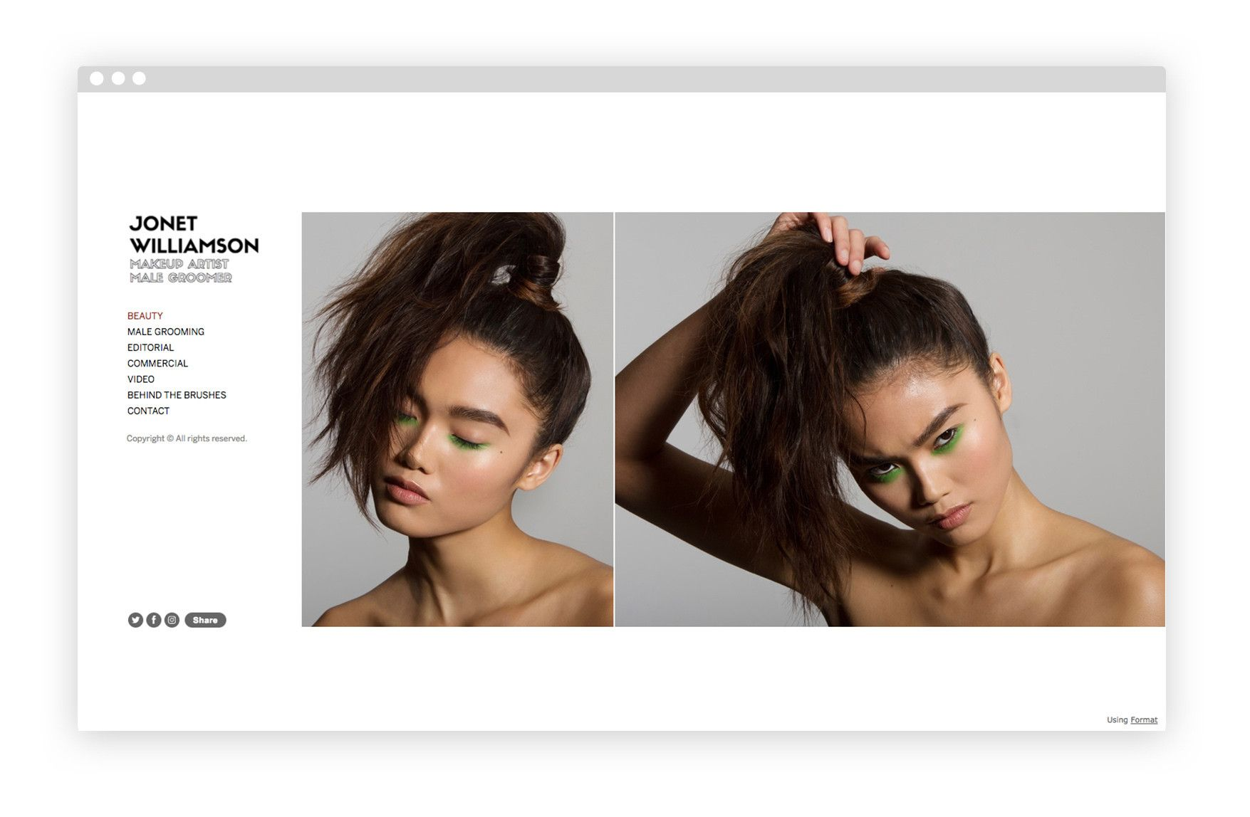 9 amazing hair make up artist fashion portfolio website