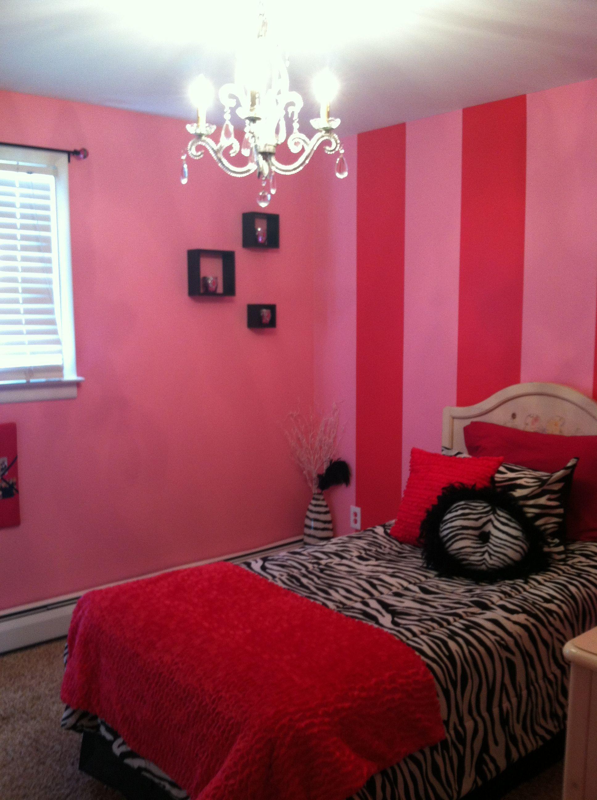 Pink And Zebra Girls Bedroom Dream Bedroom Pinterest