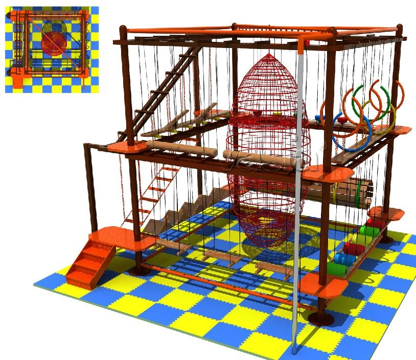 Kids And Adults Obstacle Course Ropes Indoor Adventure