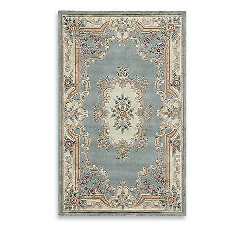 Rugs America New Aubusson Rectangular Rug In Light Green The Collection From