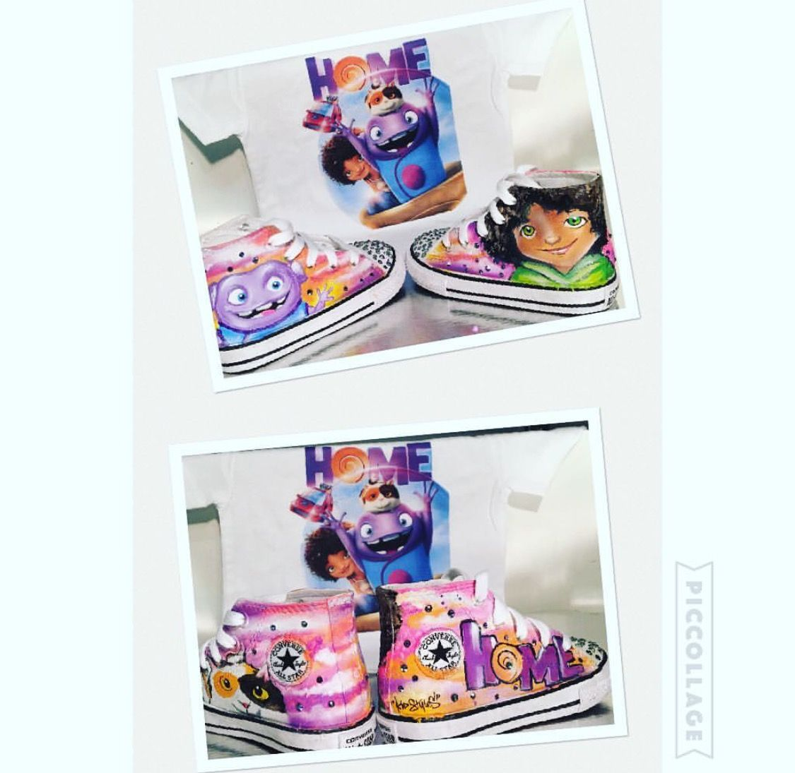 Dreamworks Home Boov Party. Custom Converse | lays party | Pinterest