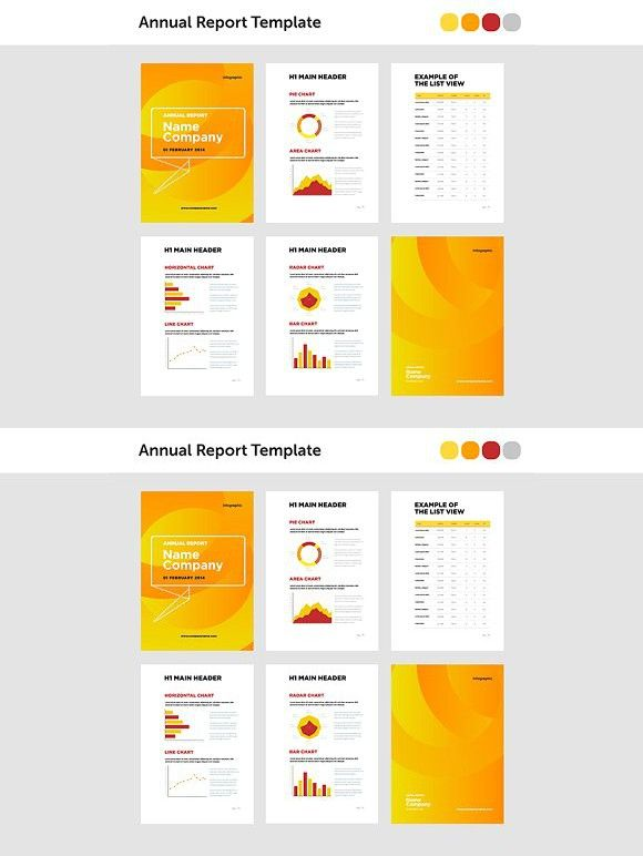Modern annual report template  Creative Business Card Templates - business annual report template