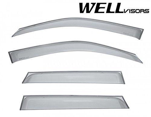 Wellvisors Premium Series Side Rain Guard Window Visors Deflectors For 06 13 Suzuki Grand Vitara 2006 2007 2008 2009 2 Grand Vitara Visors Exterior Accessories