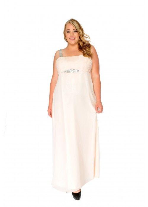 Edles Abendkleid mit Pailletten, XXL, Farbe apricot - Abendkleider ...