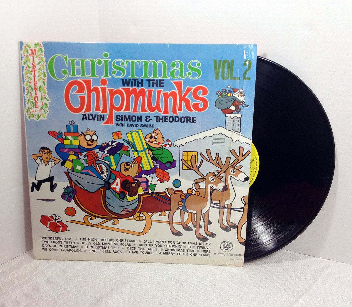 Christmas With The Chipmunks Vol 2 1975 Vinyl Record vintage LP 70's Holiday Kids