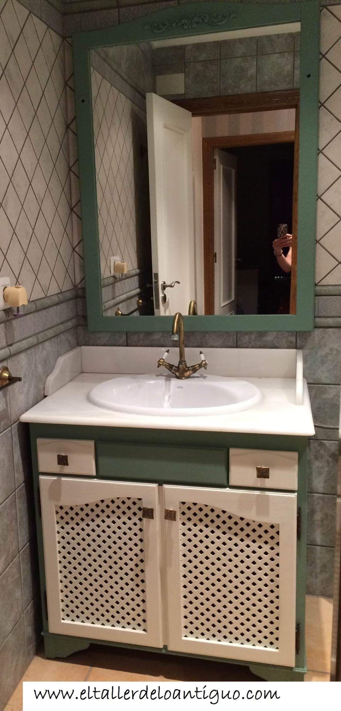 9-pintar-mueble-de-baño   Muebles de baño, Mueble pintado ...