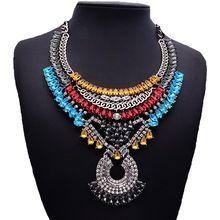 N00584 moda Boho jóias Maxi Multi camada cadeia Teardrop Bib Chunky exagerada grande pingente(China (Mainland))