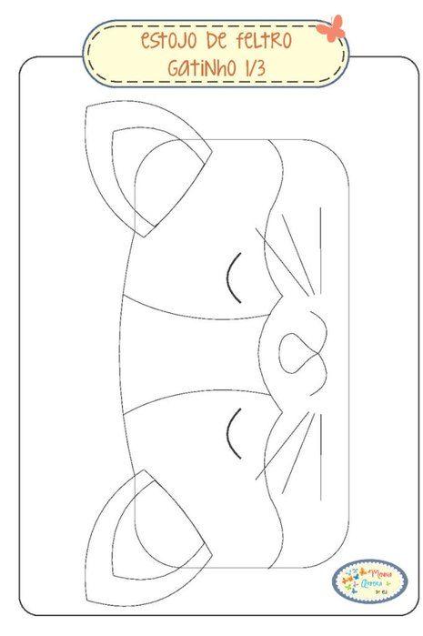 Moldes para hacer una lapicera de gato Ideas de Manualidades ...