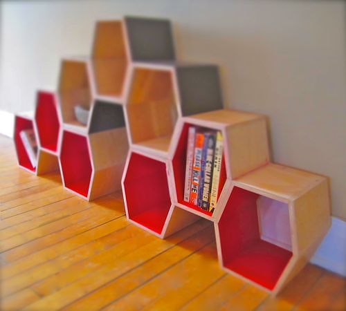 Honeycomb Shelves By Greta De Parry Bee Inspiration Honey Loves This Design