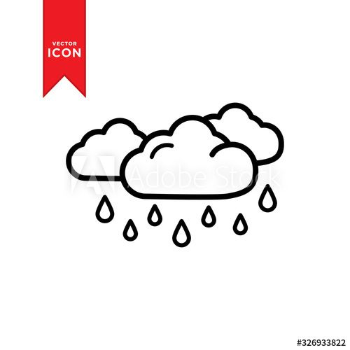 Rain icon vector. Weather icon illustration. Flat design style on , #AD, #vector, #Weather, #Rain, #icon, #design #Ad