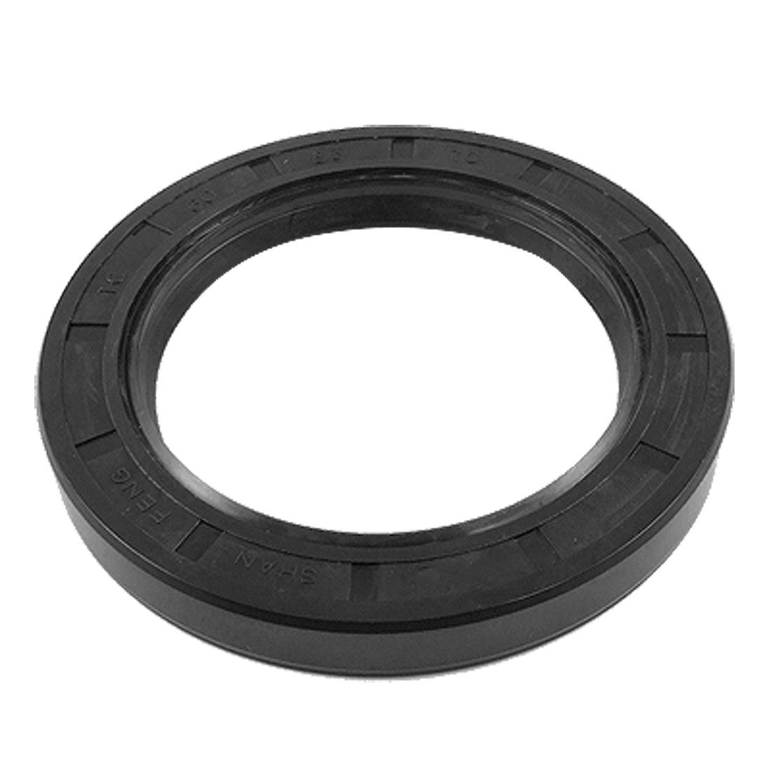 UXCELL 60X85x10mm Tc Steel Spring Metric Double Lip Oil Shaft Seal