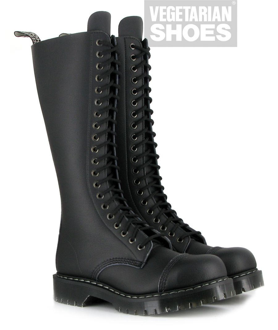 Vegetarian Shoes Airseal 20 Eye Boot (Black) I only wish these had a zipper!