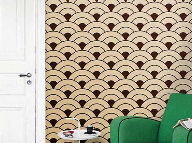 laissez vous tenter par le papier peint adh sif elle d coration papier peint art deco. Black Bedroom Furniture Sets. Home Design Ideas